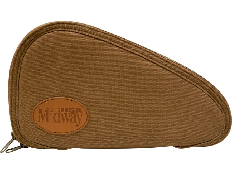 MidwayUSA Deluxe Cotton Canvas Pistol Case Medium Dark Khaki