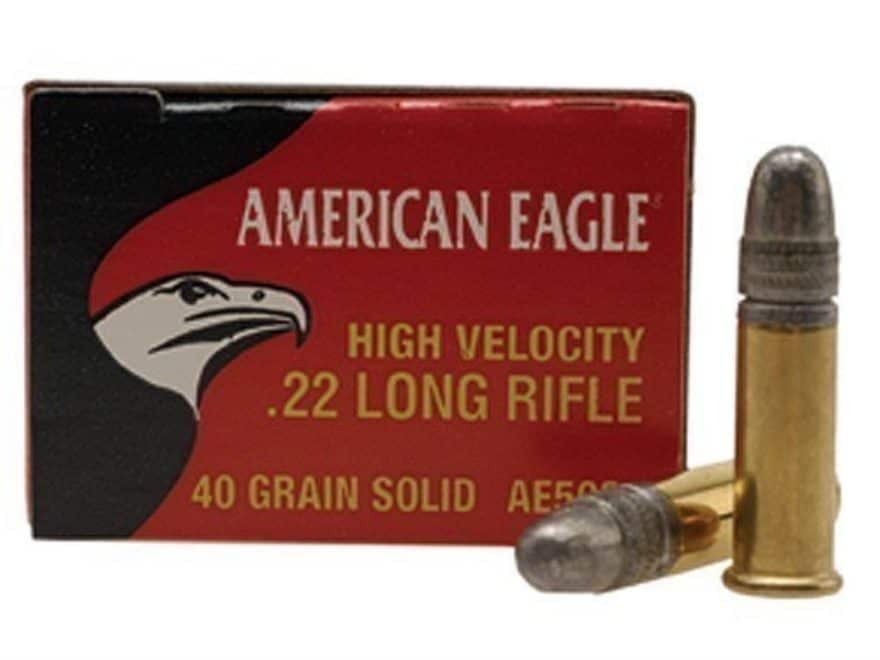 Federal American Eagle Ammunition 22 Long Rifle High Velocity 40 Grain Lead Round Nose