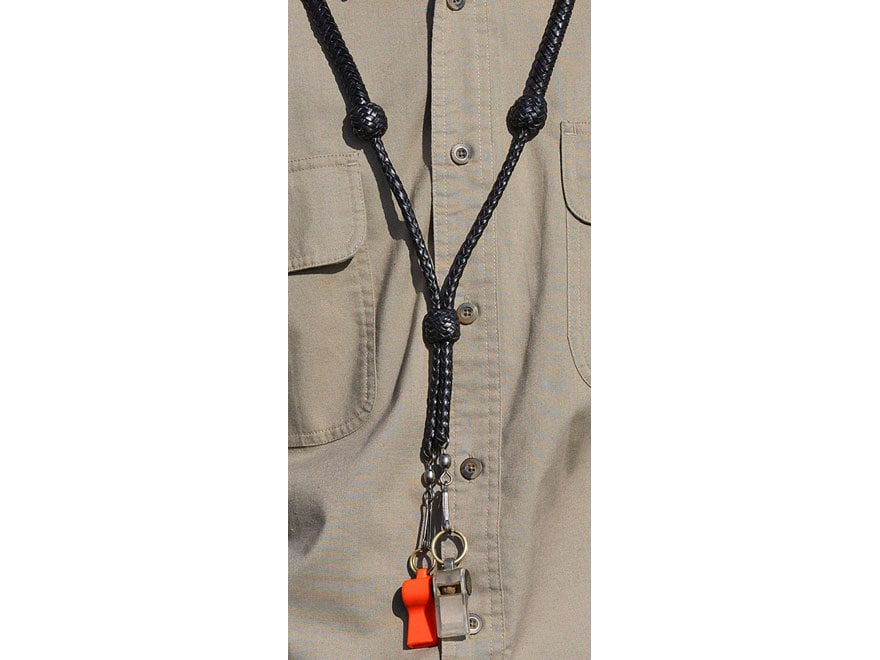 Avery Classic Whistle Lanyard Leather Brown