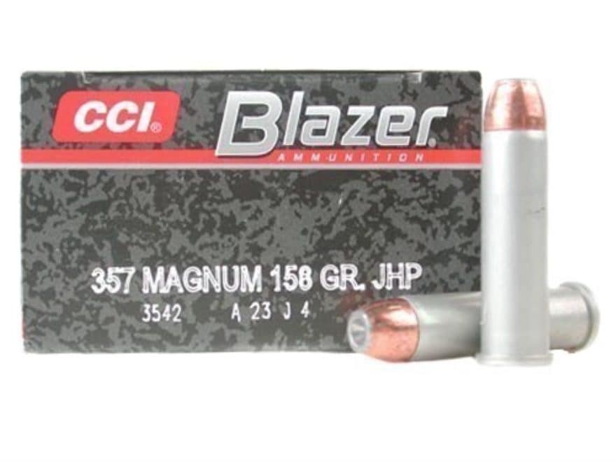 Blazer Ammunition 357 Magnum 158 Grain Jacketed Hollow Point Box of 50