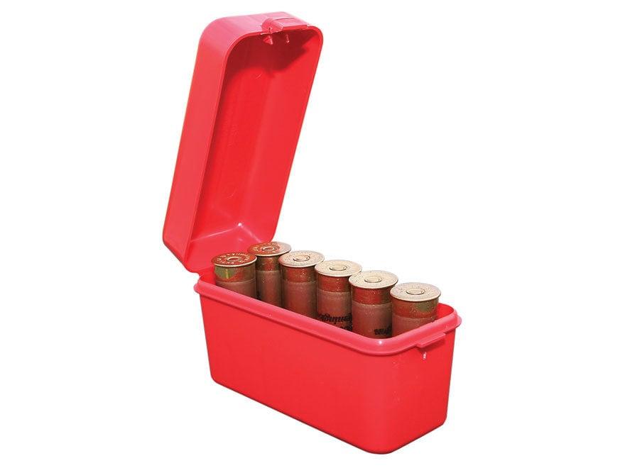 "MTM Flip-Top Shotshell Box 12 Gauge 2-3/4"", 3"" 10-Round Plastic Red"
