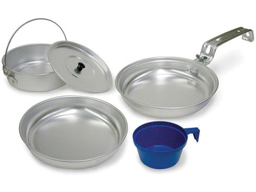 Stansport 1-Person Mess Kit Aluminum