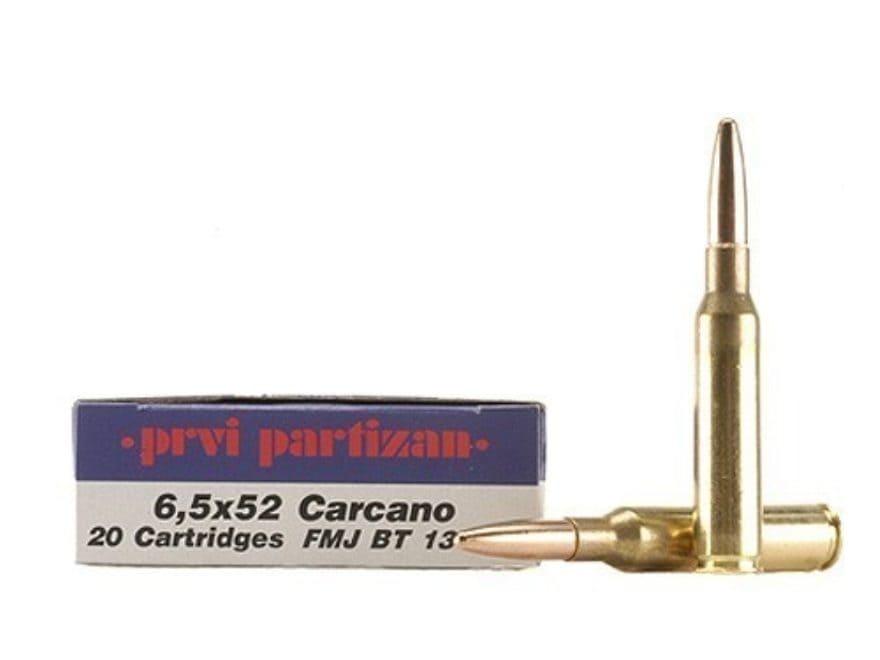 Prvi Partizan Ammunition 6.5x52mm Mannlicher-Carcano 139 Grain Full Metal Jacket Boat T...