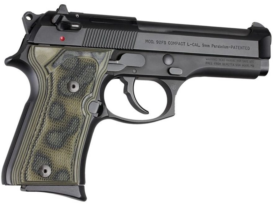 Hogue Extreme Series Grip Beretta 92FS Compact Checkered G10 Olive Drab