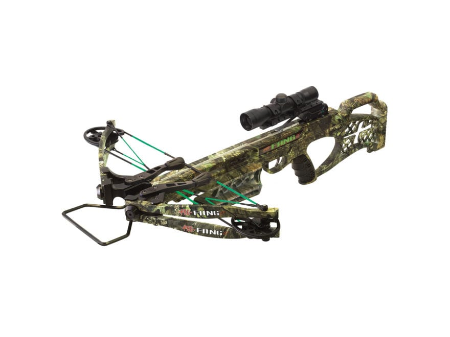 PSE Fang LT Crossbow Package with 4x32 Multi-Reticle Scope Mossy Oak Break-Up Country Camo
