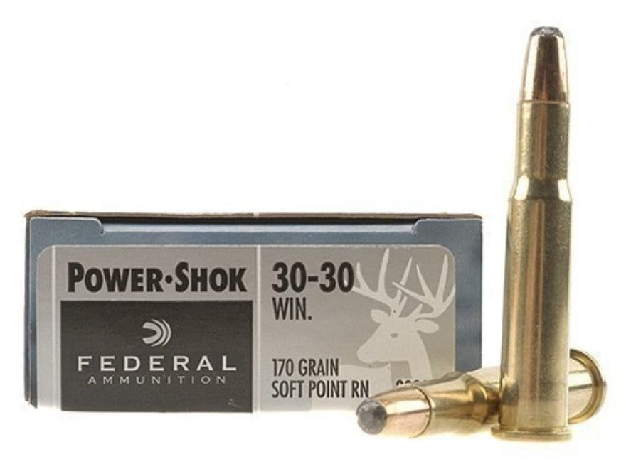 Federal Power-Shok Ammunition 30-30 Winchester 170 Grain Round Nose Soft Point