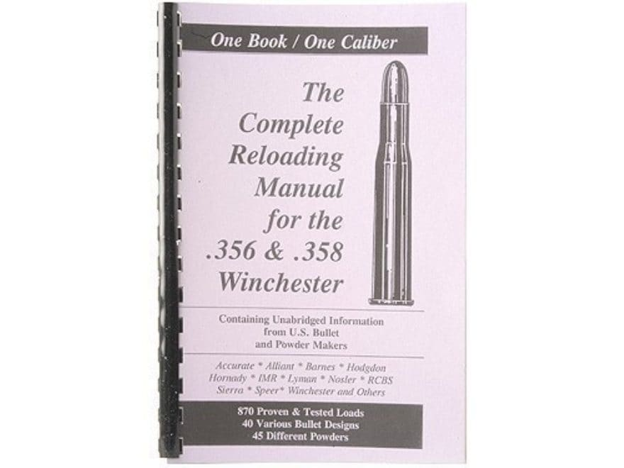 """Loadbooks USA """"356 and 358 Winchester"""" Reloading Manual"""