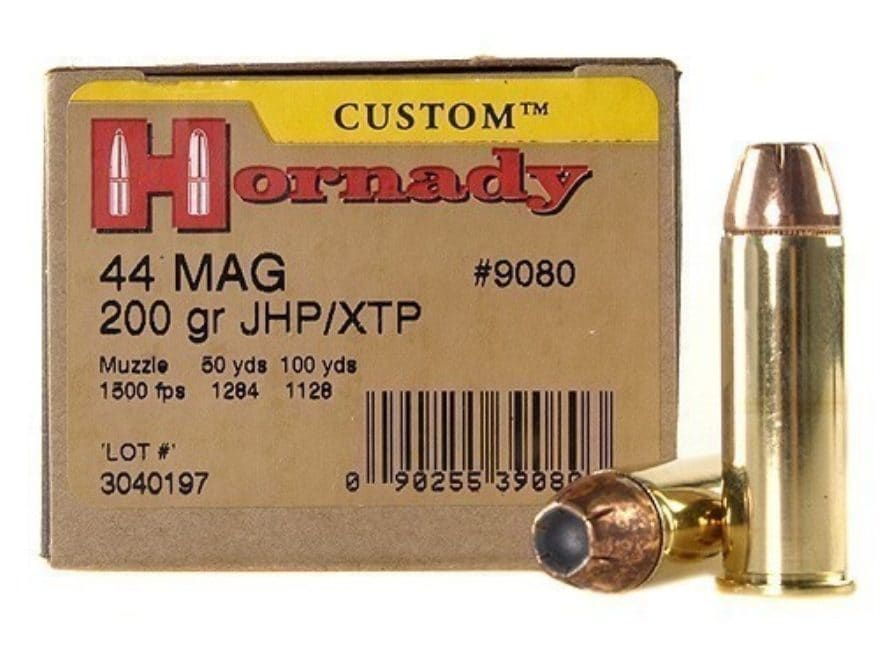 Hornady Custom Ammunition 44 Remington Magnum 200 Grain XTP Jacketed Hollow Point Box o...