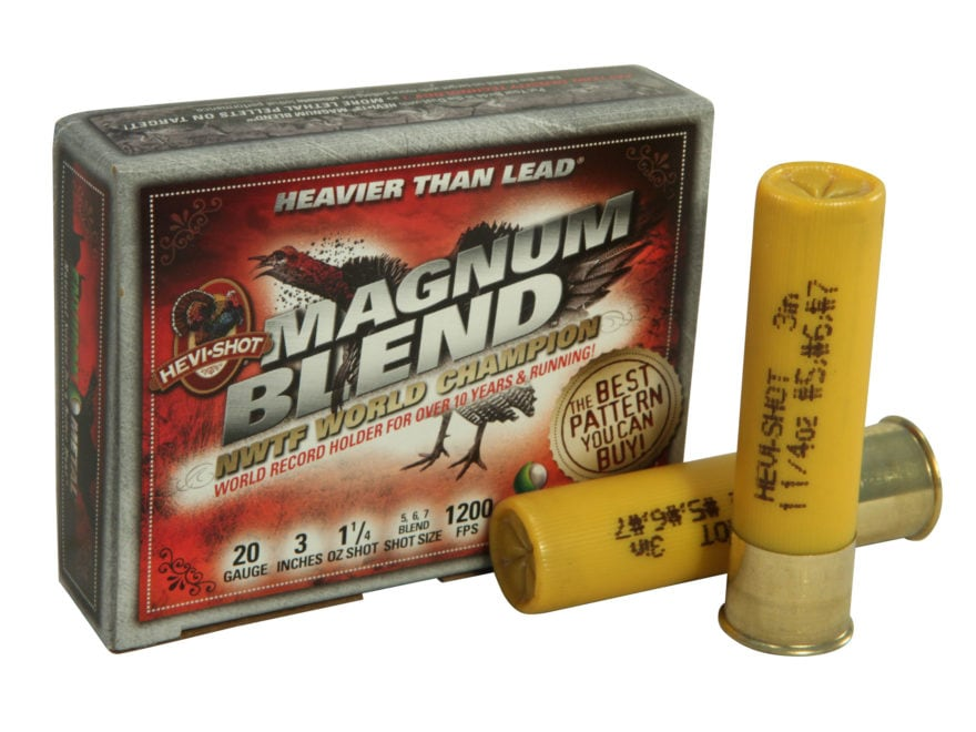 "Hevi-Shot Magnum Blend Turkey Ammunition 20 Gauge 3""  1-1/4 oz #5, #6 and #7 Hevi-Shot ..."