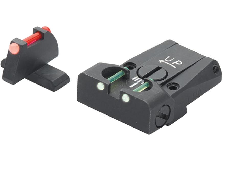 LPA TTF Adjustable Sight Set Sig P220, 225, 226, 228 Steel Fiber Optic