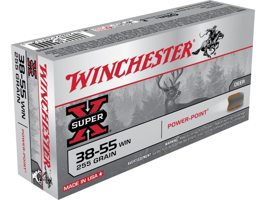 Winchester Super-X Ammunition 38-55 WCF 255 Grain Power-Point