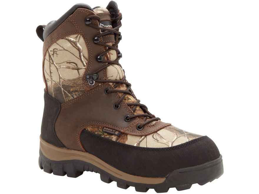 "Rocky Core Hiker 8"" Waterproof 400 Gram Insulated Hunting Boots Leather/Nylon Realtree ..."