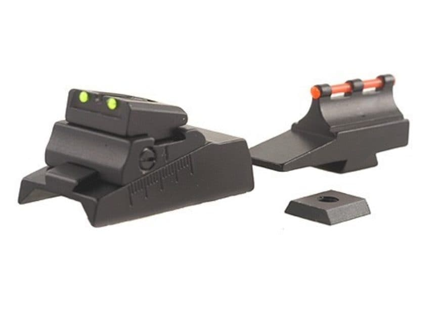 Williams Fire Sight Set CVA with Octagon Barrel Aluminum Black Fiber Optic Green