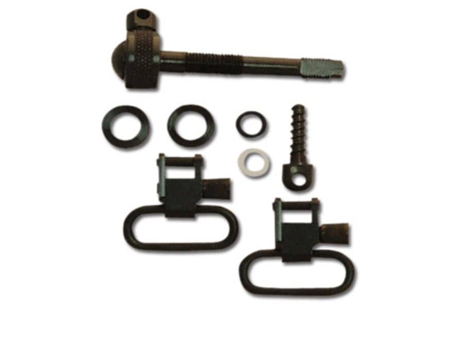 "GrovTec Sling Swivel Studs with 1"" Locking Swivels Set Remington 742 ADL Steel Black"