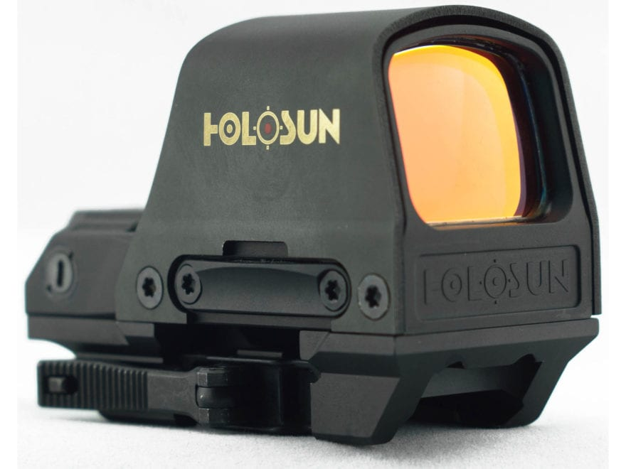 Holosun HS510C Reflex Sight 1x Selectable Reticle Weaver-Style Quick-Release Mount Sola...
