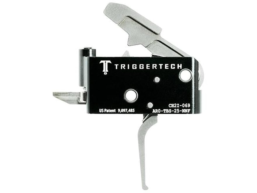 "TriggerTech Adaptable Primary Trigger Group AR-15, LR-308 Small Pin .154"" Two Stage Silver"