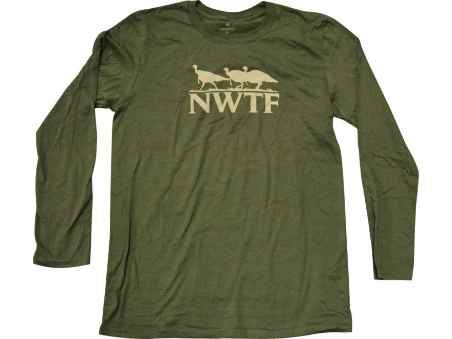 Nomad Men's NWTF Turkey Tracks T-Shirt Long Sleeve Cotton/Polyester