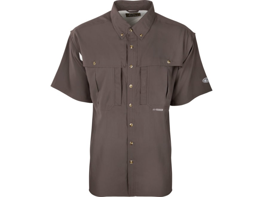Drake Men's Flyweight Wingshooter's Shirt Short Sleeve Polyester