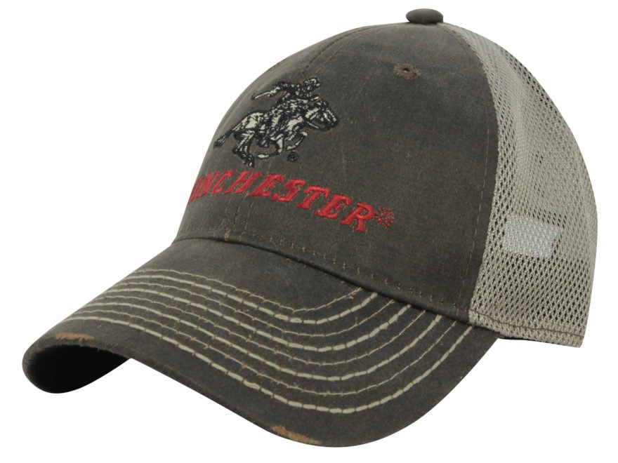 Winchester Weathered Mesh Logo Cap Cotton Polyester - MPN  WIN36A b9d93623d350