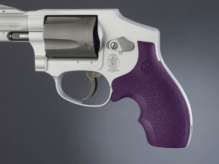 Hogue Bantam Grips with Top Finger Groove S&W J-Frame Round Butt Rubber Purple