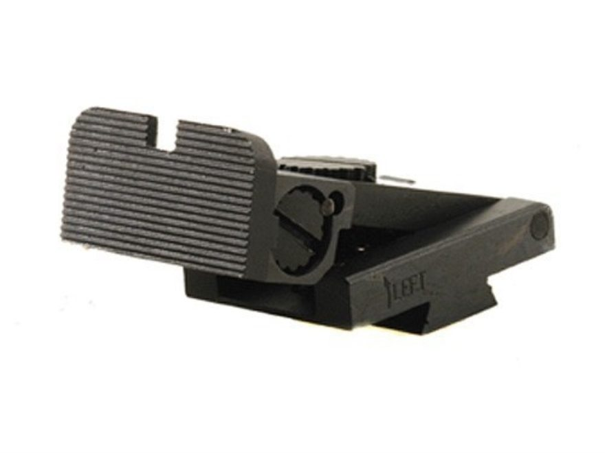 Kensight Adjustable Rear Sight 1911 Bo-Mar Cut Steel Black Rounded Blade Fully Serrated