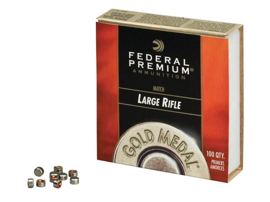 Federal Premium Gold Medal Large Rifle Match Primers #210M