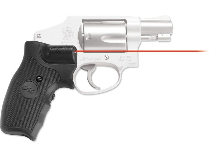 Crimson Trace Lasergrips Smith & Wesson J-Frame Round Butt Extended Grip Overmolded Rub...