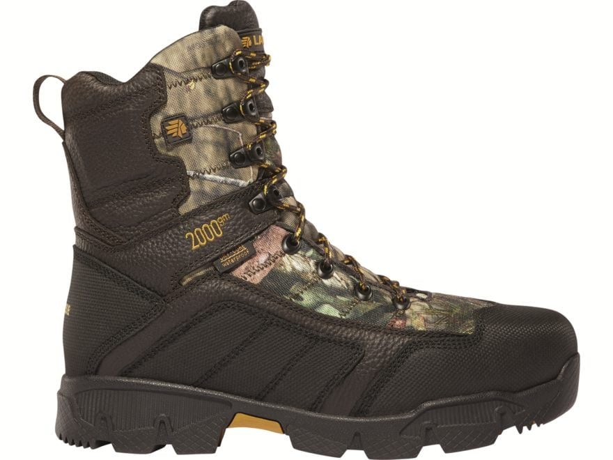 "LaCrosse Cold Snap 8"" Waterproof 2000 Gram Insulated Hunting Boots Leather/Synthetic Men's"