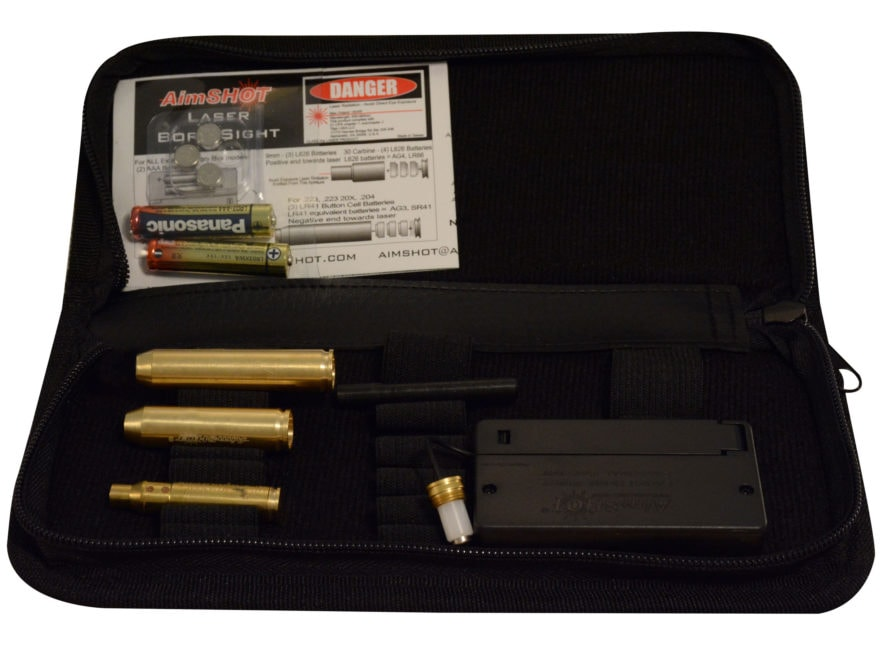 AimShot Laser Bore Sight Kit 223 Remington Diode Module with Arbors for 243 Win, 308, 7...