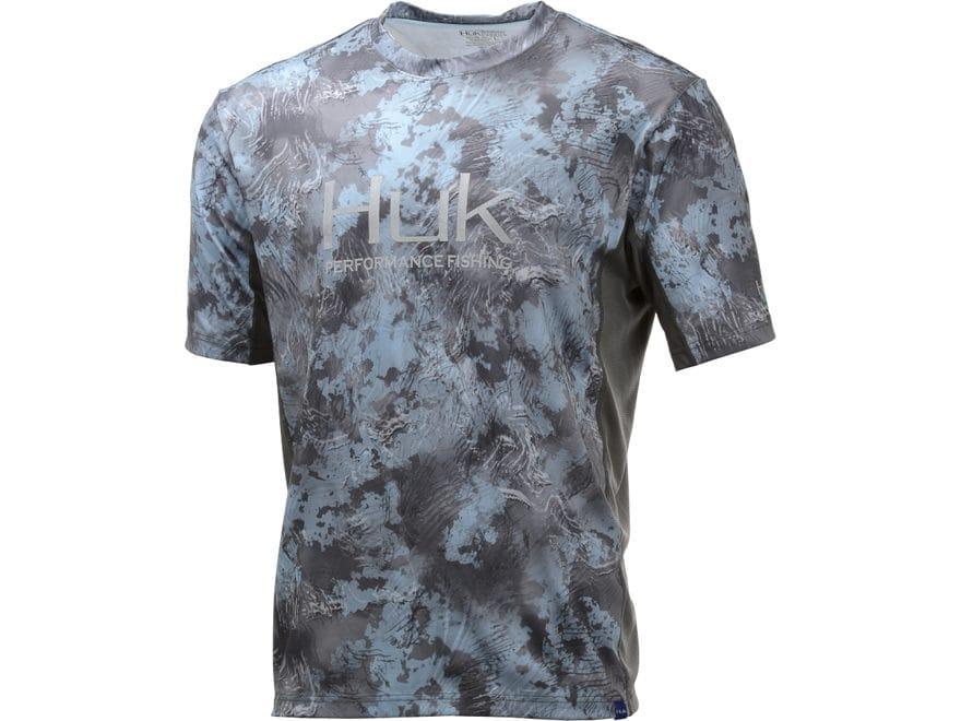 Huk Men's Icon X Camo Performance Shirt Short Sleeve Polyester/Spandex
