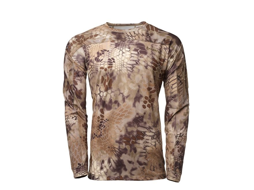 Kryptek Men's Valhalla Crew Shirt Long Sleeve Polyester/Spandex