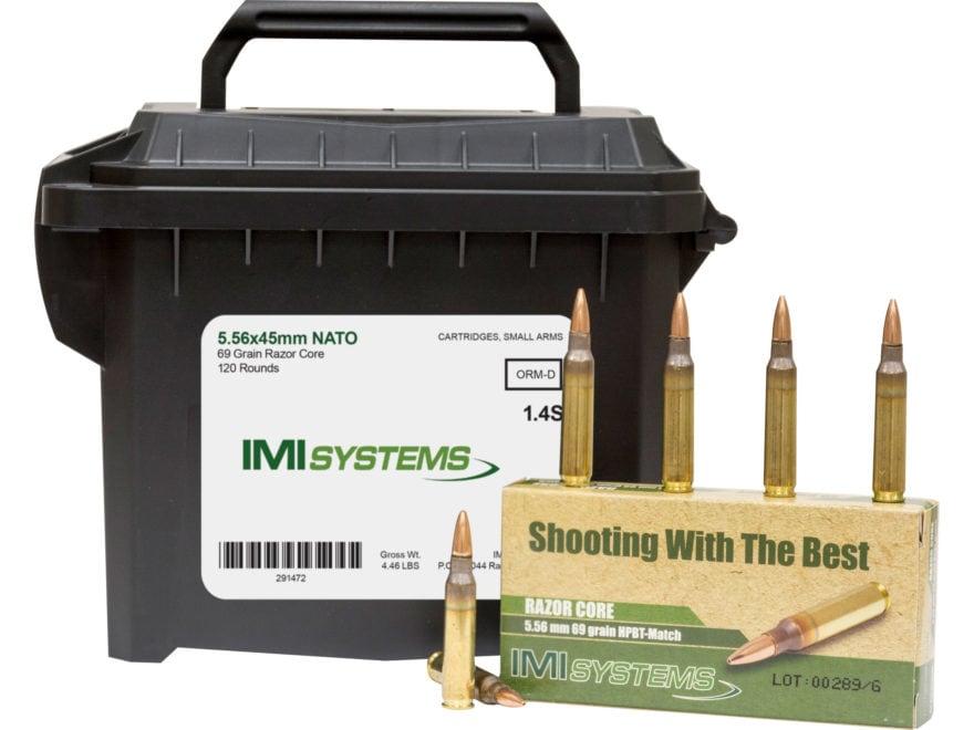 IMI Ammunition 5.56x45mm 69 Grain Razor Core (Sierra MatchKing Hollow Point) Ammo Can o...