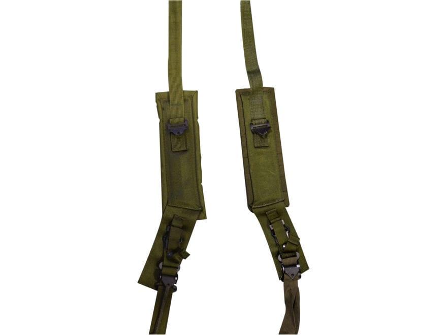 Military Surplus ALICE Pack Shoulder Straps Grade 1 Medium Olive Drab