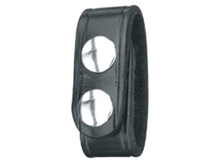 Gould & Goodrich B76 Belt Keeper Nickel Snap Leather Black