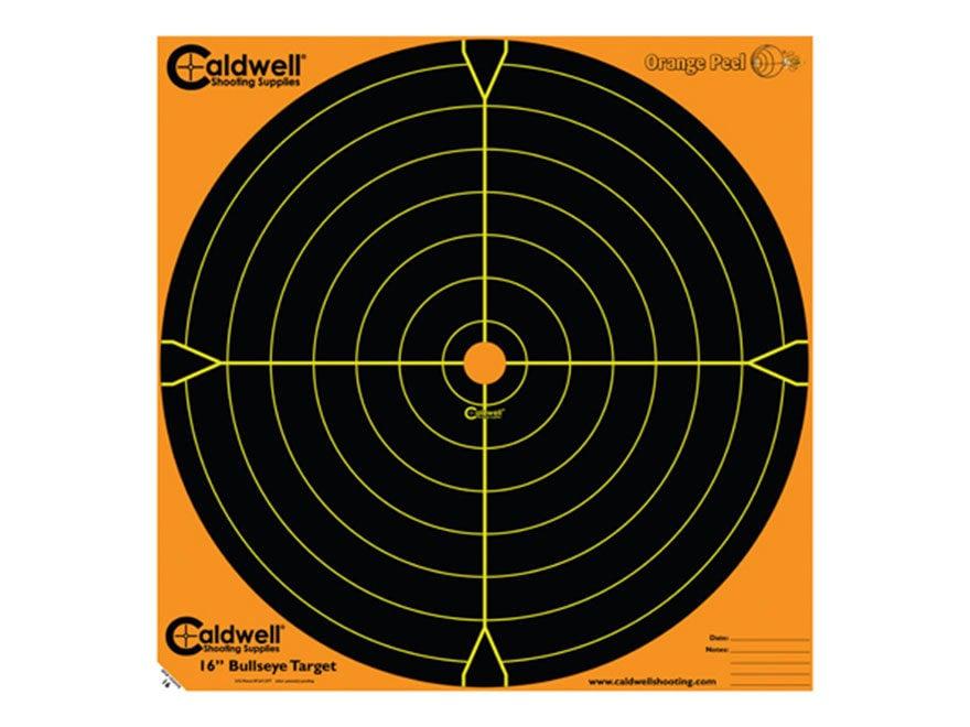"Caldwell Orange Peel Targets 16"" Self-Adhesive Bullseye"