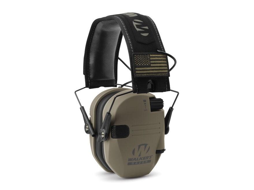 Walker's Razor Patriot Electronic Earmuffs (NRR 23dB)