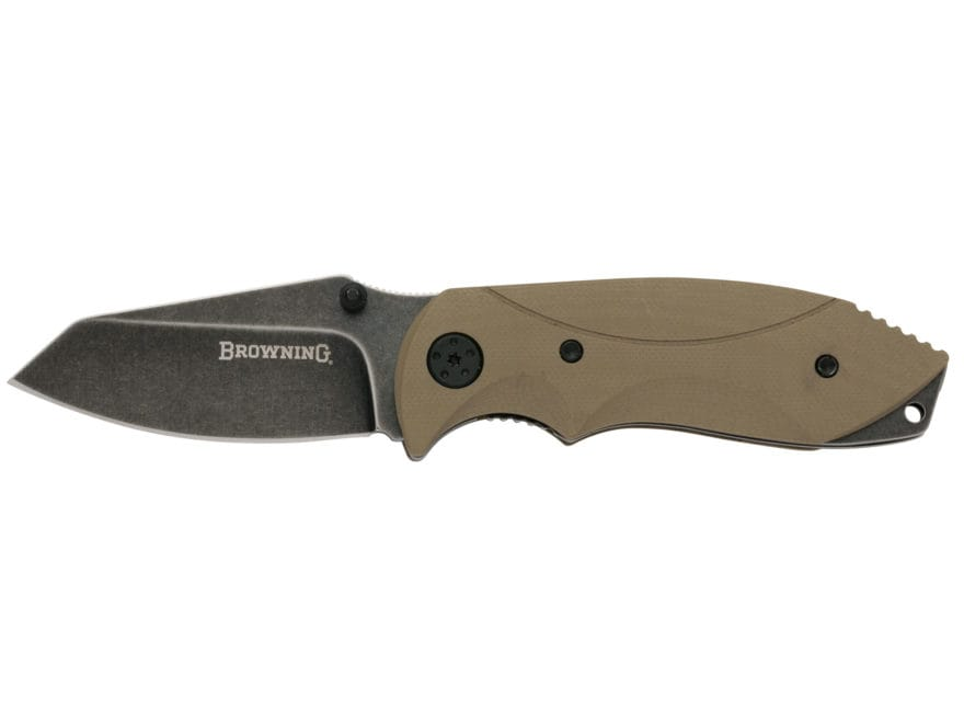 """Browning Black Label Hysteria Folding Knife 2.6875"""" Tanto Point 7Cr17MoV Stainless Stee..."""