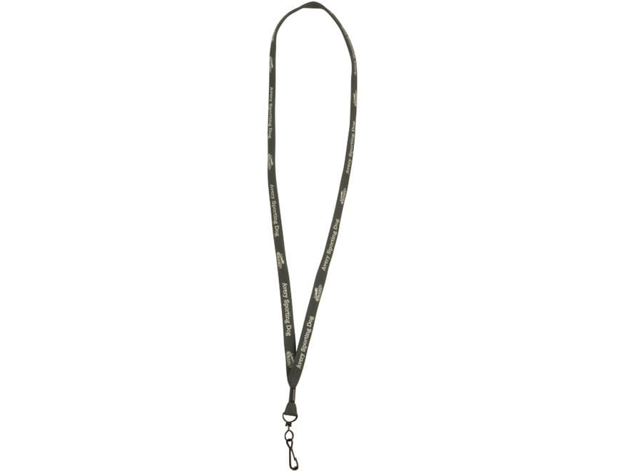 Avery Single Clip Whistle Lanyard Polyester Green