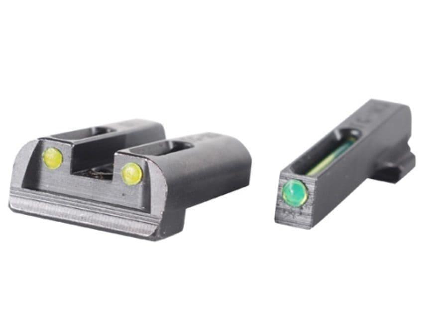 TRUGLO TFO Sight Set Sig Sauer #6 Front #8 Rear Steel Tritium / Fiber Optic