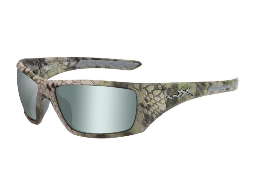 Wiley X WX Nash Polarized Sunglasses Kryptek Altitude Camo Frame/Flash Grey Lens