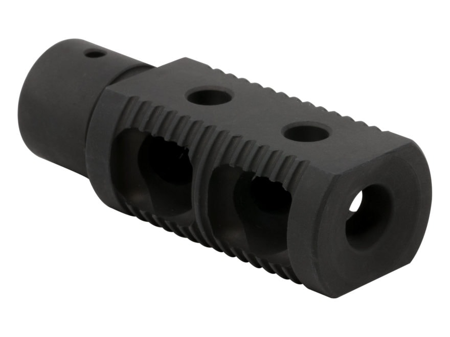 """AR-STONER Stage 2 Competition Muzzle Brake 9mm Luger AR-15 1/2""""-28 Thread Steel Melonite"""