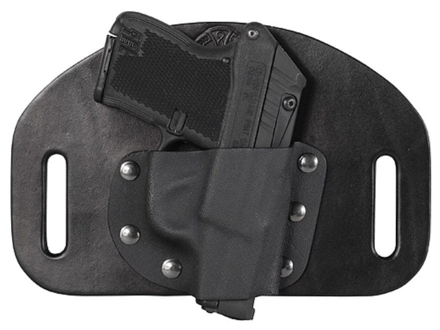 CrossBreed MiniSlide Outside the Waistband Holster Right Hand Kel-Tec P3AT,  P32 Kydex and Cow Hide Black