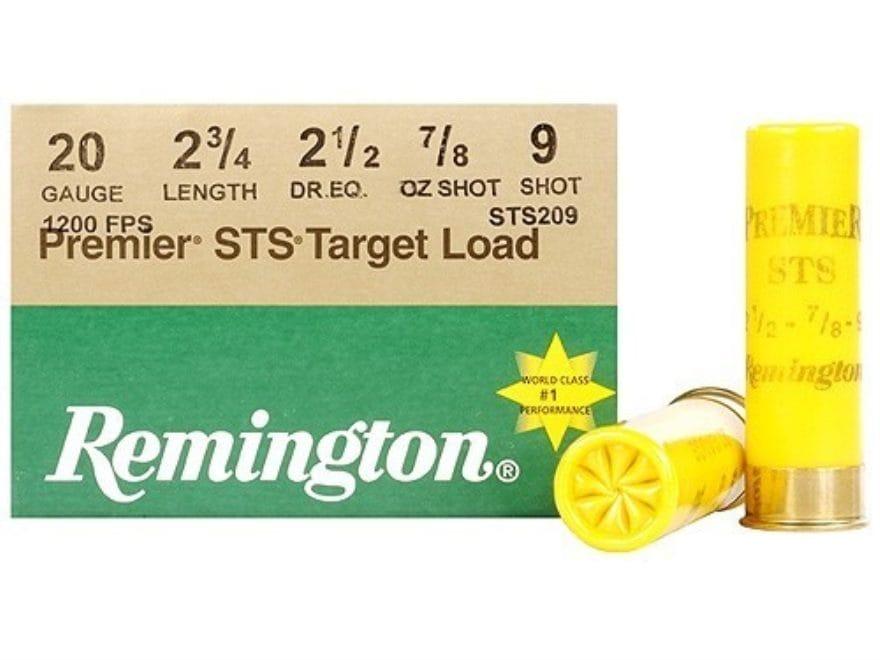 "Remington Premier STS Target Ammunition 20 Gauge 2-3/4"" 7/8 oz #9 Shot"