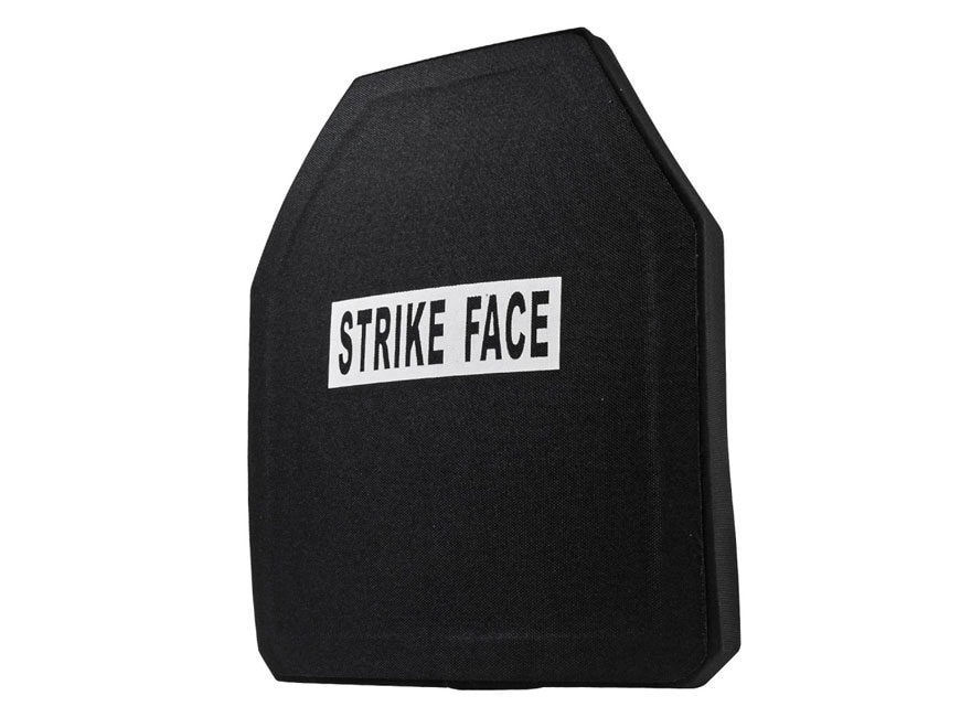 """Vism Body Armor Stand Alone Ballistic Plate Level IV Shooters Cut 10"""" x 12"""" Ceramic"""