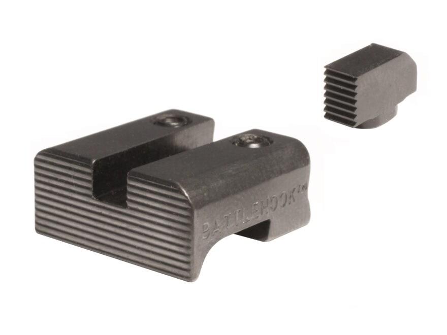 BattleHook Sight Set Glock 17, 19, 22, 23, 24, 26, 27, 33, 34, 35, 37, 38, 39 Steel Black