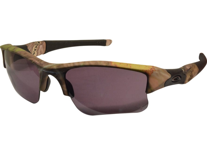 0b11c33857 Oakley Flak Jacket XLJ Sunglasses King s Woodland Camo Frame Warm Gray Lens  with Case