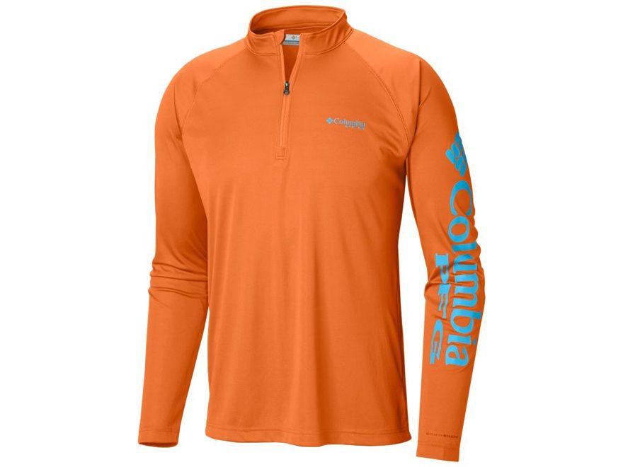 fc455278d7c Columbia Men's PFG Terminal Tackle 1/4 Zip Shirt Long Sleeve Polyester