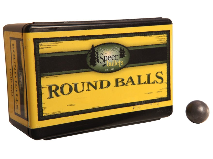 Speer Muzzleloading Bullets Round Ball