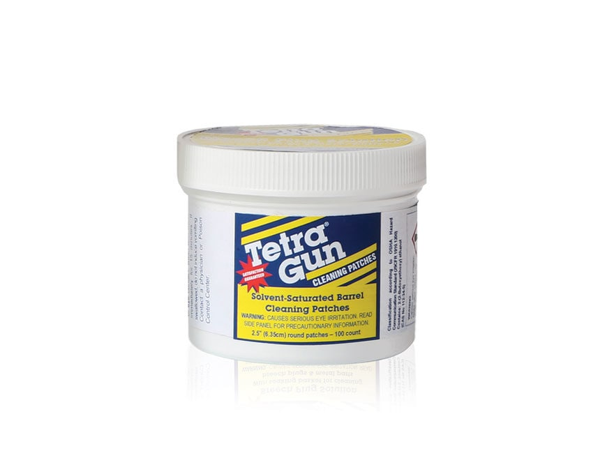 "Tetra Gun Carbon Cleaner Pre-Soaked 2-1/2"" Patches Package of 100"