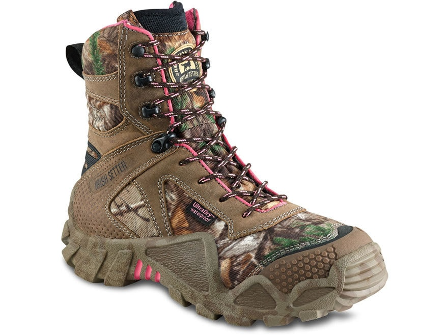 "Irish Setter VaprTrek 8"" Waterproof Hunting Boots Nylon and Leather Realtree Xtra and P..."
